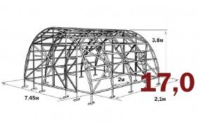 Fermer 5.0 papildoma sekcija 7.5x2,1m 15.75m2 6mm