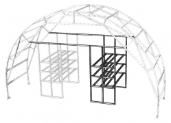Lentynos šiltnamiui Fermer papildoma sekcija A 1,2mx2,1m