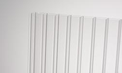 Kanalinis polikarbonatas 10mm skaidrus 1050x2000