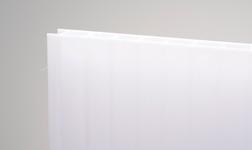Kanalinis polikarbonatas 6mm, baltas 2100x6000