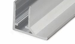 Aliuminis užbaigimo profilis, 6 mm, sidabrinis