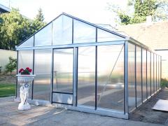 Šiltnamis Magna 3,8 / 11,70 m2 / 4mm saugiu grūdintu stiklu ir su aliuminio pagrindu