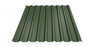 Profiliuotas cinkuoto plieno lakštas T18, dengtas poliesteriu,  RAL 6020 (žalia spalva)