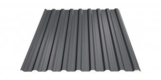 Profiliuotas cinkuoto plieno lakštas T18, dengtas poliesteriu,  RAL 7016 (tamsiai pilka spalva)