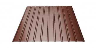 Profiliuotas cinkuoto plieno lakštas T8, dengtas poliesteriu,  RAL 8017 (šokoladinė spalva)