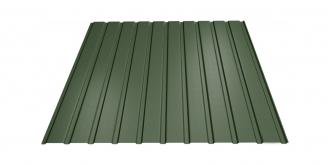 Profiliuotas cinkuoto plieno lakštas T8, dengtas poliesteriu,  RAL 6020 (žalia spalva)