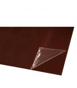 Lygus cinkuoto plieno lakštas, dengtas poliesteriu ir dengtas apsaugine plevele RAL 8019 (tamsiai ruda spalva)