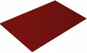 Lygus cinkuoto plieno lakštas, dengtas poliesteriu ir dengtas apsaugine plevele, RAL 3011 (raudona spalva)