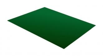 Lygus cinkuoto plieno lakštas, dengtas poliesteriu ir dengtas apsaugine plevele, RAL 6020 (žalia spalva)