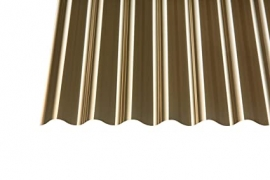 PVC lakštas banguotas bronzinis vnt