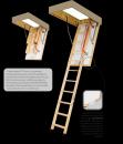Fakro sudedami segmentiniai palėpės laiptai su medinėmis kopėčiomis