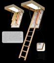 Fakro sustumiami segmentiniai palėpės laiptai  - medinėmis kopėčiomis