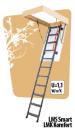 Fakro sudedami segmentiniai palėpės laiptai su metalinėmis kopėčiomis