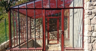 Šiltnamis Murus 1,56 / 3,7 m2 / 4mm saugiu grūdintu stiklu ir su aliuminio pagrindu