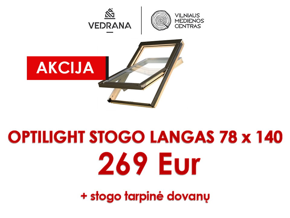 optilight stogo langas 78x140