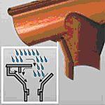 Plastikinė lietaus nuvedimo sistema GALECO Kaina Kainos