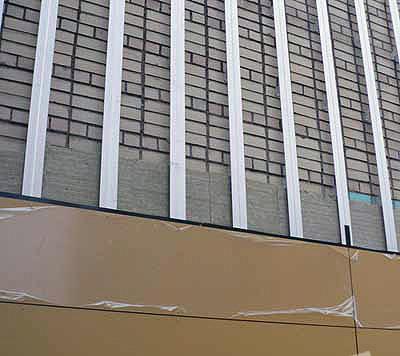 Vėdinamo fasado tvirtinimas Kaina