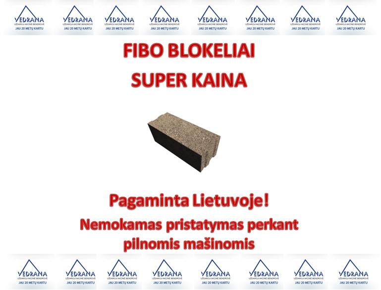 FIBO keramzitbetonio blokai kaina