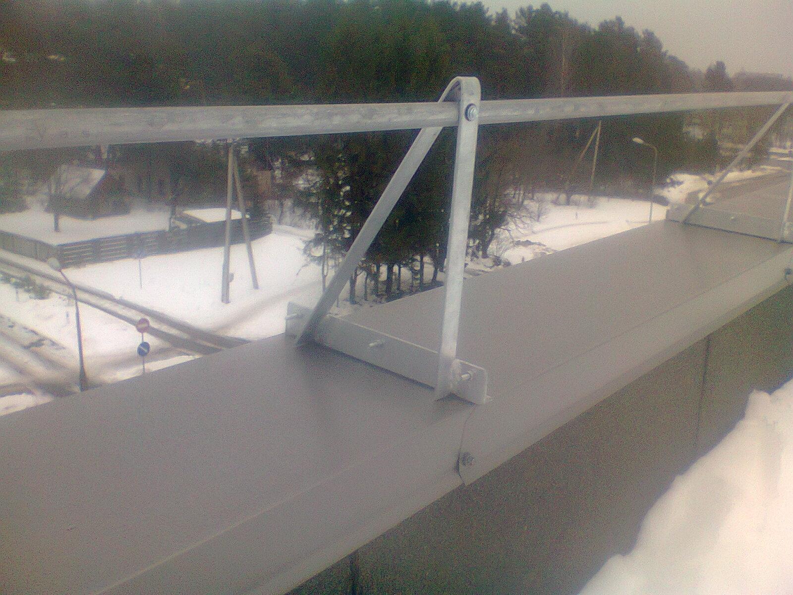 Apsauginės stogo tvorelės ant parapeto Super Kaina Vilniuje